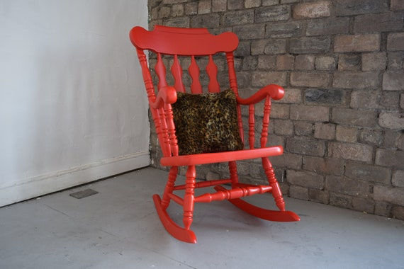 Surprising Red Rocking Chair The Peckham Rocker Ncnpc Chair Design For Home Ncnpcorg