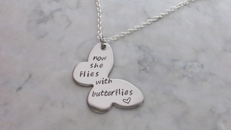 MEMORIAL NOW SHE FLIES WITH BUTTERFLIES LOCKET-HIGH QUALITY