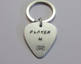Player43, Gaming, Player 4 Keychain, Player  Keychain, Gamer Keychain, His Keychain, Gamers, Gamers Keychain, Gaming Keychain, Video Games