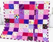 Baby Quilt, Handmade Baby Quilt, Modern Baby Quilt, Baby Gift, Newborn Gift, Baby Shower Gift, Holiday Baby Gift.
