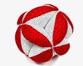 Segmented Fabric Ball, Fabric Stuffed Ball,Fabric Ball, Segmented Ball, Baby Gift, Holiday Baby Gift, Gift For Baby.