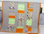 Baby Quilt, Handmade Baby Quilt, Modern Baby Quilt, Baby Gift, Newborn Gift, Holiday Baby Gift,  Baby Shower Gift,  Modern Design