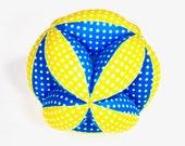 Segmented Fabric Ball, Fabric Stuffed Ball, Fabric Ball, Segmented Ball, Stuffed Segmented Ball,Baby Gift, Holiday Baby Gift, Gift for Baby