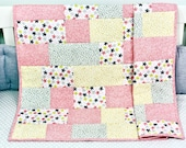 Baby Quilt, Handmade Baby Quilt, Modern Baby Quilt, Baby Gift, Newborn Gift, Baby Shower Gift, Holiday Baby Gift