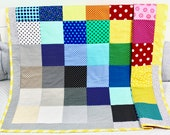 Baby Quilt, Handmade Baby Quilt, Modern Baby Quilt, Baby Gift, Baby Shower Gift, Holiday Baby Gift.