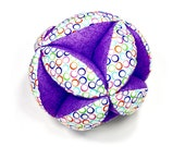 Segmented Fabric Ball, Fabric Ball, Fabric Stuffed Ball.