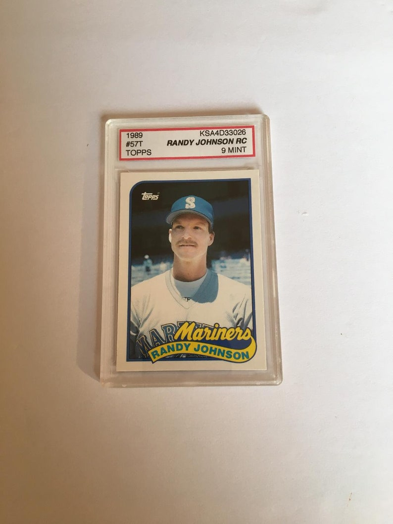 1989 Topps Randy Johnson Rookie Card Ksa9