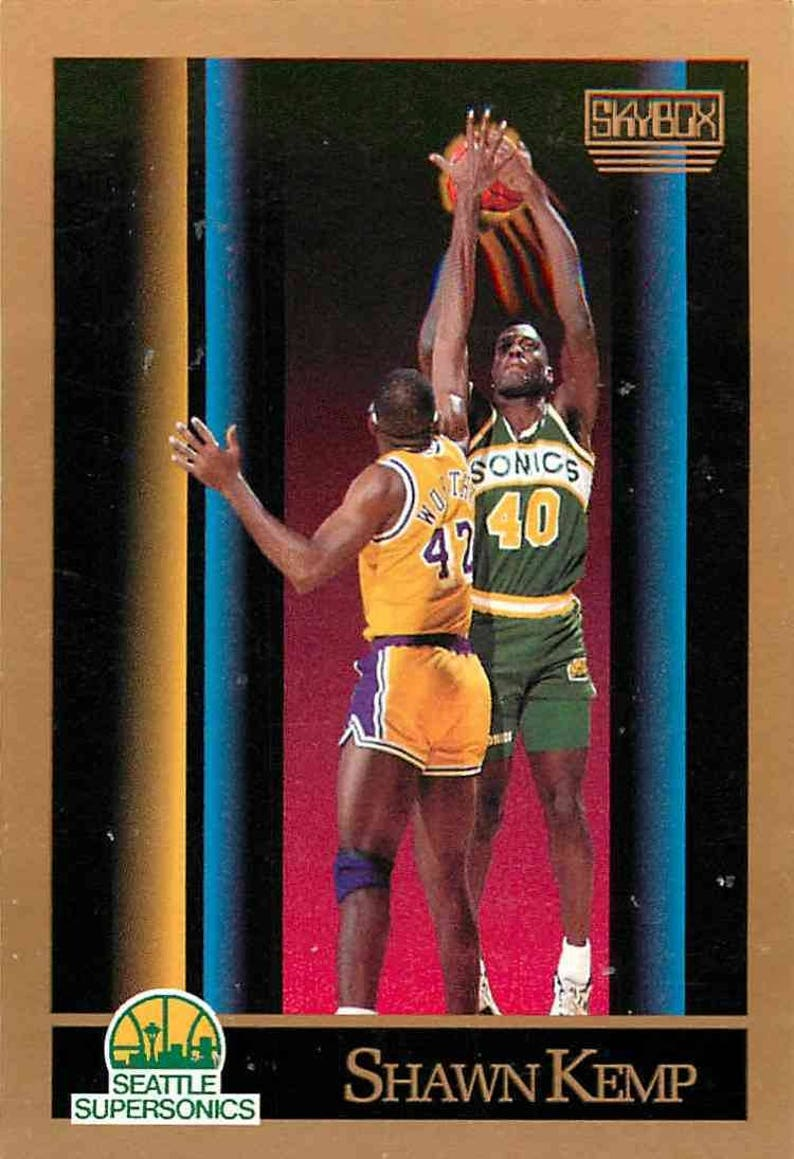 9145091553e10 1990 Skybox #268 Shawn Kemp Rookie Card