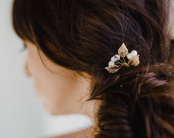 Gold Leaf Hair Pin | Bridal Hair Pin | Bridal Hair Comb | Gold Hair Pin | Gold Leaf Hair Comb | Leaf Hairpiece | Gold Lucy Hair Pin