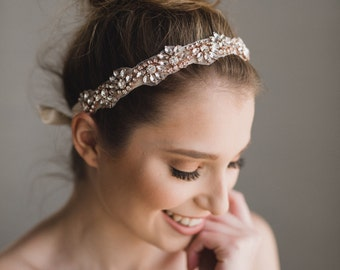 Rose Gold Bridal Headband  3ed6550ecf4