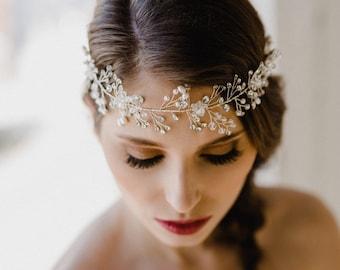Bridal Hair Wreath | Wedding Hair Wreath | Bridal Crown | Bridal Halo | Bridal Headpiece | Bridal Tiara | Crystal Halo | Wedding Crown