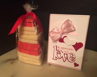 Valentine's Day CookiesandaCard