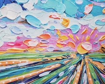 Landscape art print, colorful art , best art,artist prints, adds color to your home office, home art, livingroom art, frame,abstract art