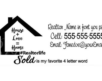 Real estate gift tag | Etsy