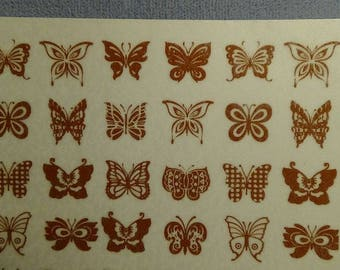 Gold Butterfly Decals-22k Low Fire-Gold Decals-Decals-Fused Glass Decals-Jewelry Decals-Low fire Decals
