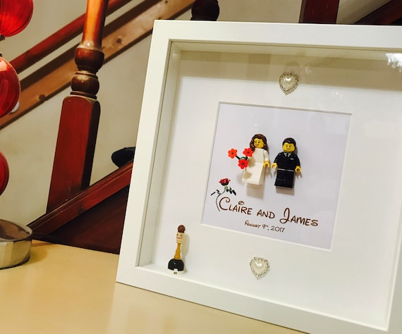 Beauty And The Beast Wedding Gift Lego Frame Disney Etsy