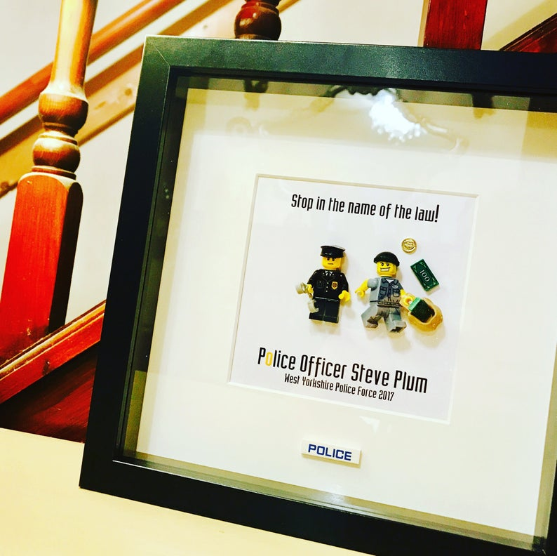 86253b79e7d Police Officer Gift Personalised Lego® Frame Police