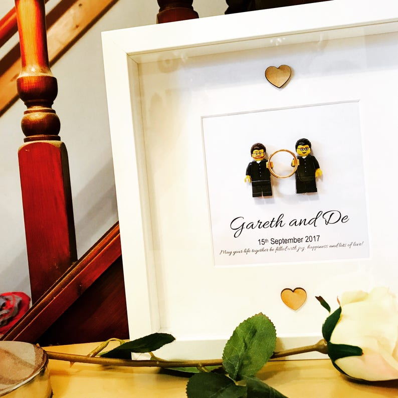 ddb33d03d65 Gay wedding gift personalised Lego® frame. Ideal for civil