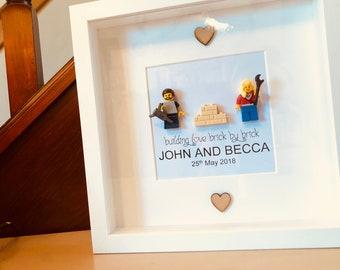 House Warming Gift -   Lego® Frame - personalised!