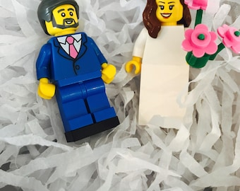 Lego® Wedding Cake Toppers - choose your bride and groom!