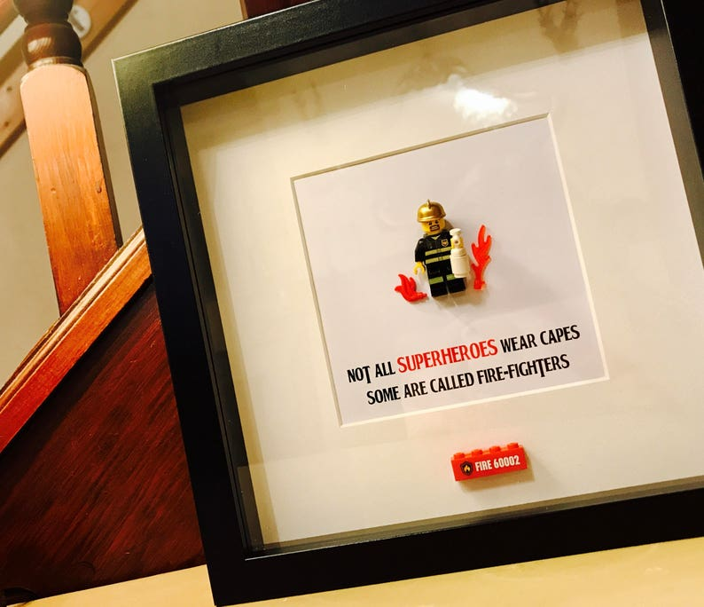bb42a518848 Fireman Gift Personalised Lego®Frame Fireman graduation or