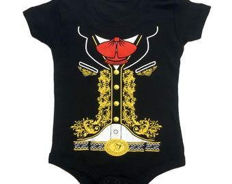 a548228a BABY One-Piece Jumpsuit Mariachi Charro Costume Body Suit T-Shirt