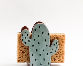 Cactus Gift-Sponge Holder-Napkin Holder-Ceramics And Pottery