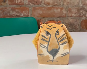 Big Cat-Tiger Sponge Holder-Napkin Holder-Tiger Lovers-Housewarming -New Home Gift-Ceramics And Pottery