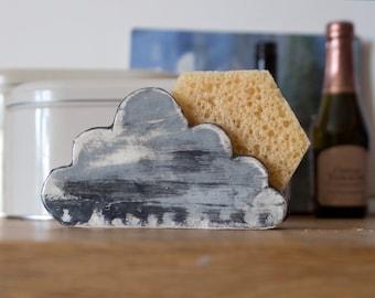 Cloud Sponge Holder-Rain-Napkin Holder-Ceramics And Pottery