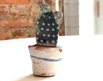 CactusGift-Cactus Lovers-Botanical Art-Ceramic Miniature-Desert Art