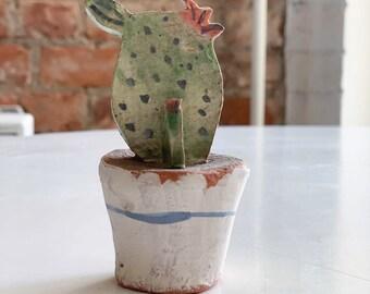 Miniature Cactus- Cactus Lovers-Ceramic Miniature-Desert Art