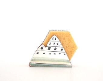 Ship Sponge Holder-Napkin Holder-Housewarming Gift-Ceramics And Pottery