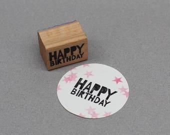 Stamp Happy Birthday 4