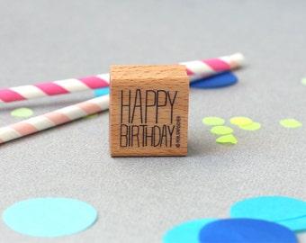 Stamp Happy Birthday- Typo 7 Happy Birthday
