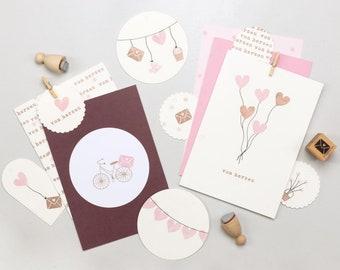 Stamp set | Liebe im Gepäck