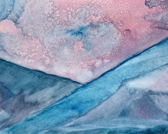 It is cold in the Mountains - Original Watercolor on paper