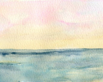 The Ocean Asks for Nothing - Original Watercolor on paper
