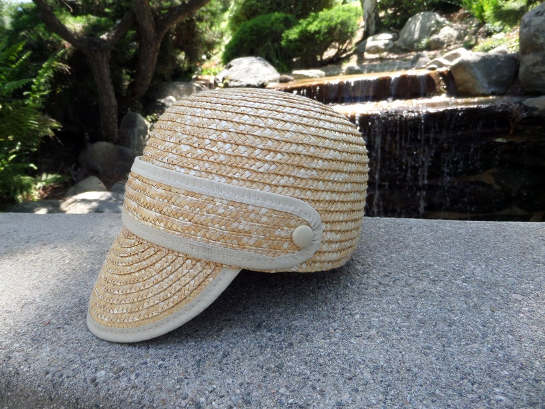 df3e26e29 One of A Kind // Beanie Style // Stylish Straw Hat // Natural Straw //  Paper Straw // Sun Hat // Beach Hat // Resort