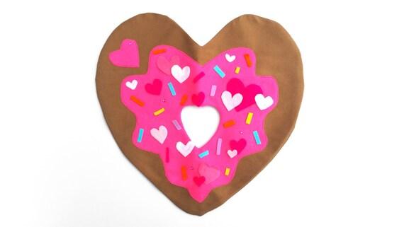 Verkoop hart donut kussen plush handgemaakte hart kussen etsy