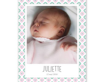 SCANDINAVIAN modern, to be personalized and original birth announcement