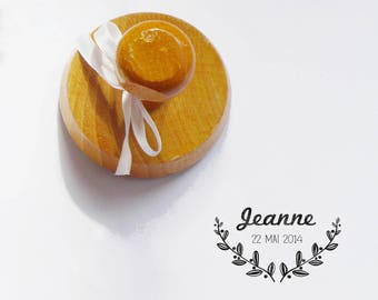 Christening/birth Jeanne vintage/retro to be personalized or custom-made stamp