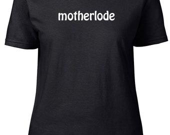 Motherlode. One Word Gaming T-shirt. Premium quality. Ringspun soft.