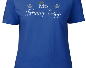 Mrs Johnny Depp. Ladies semi-fitted t-shirt.