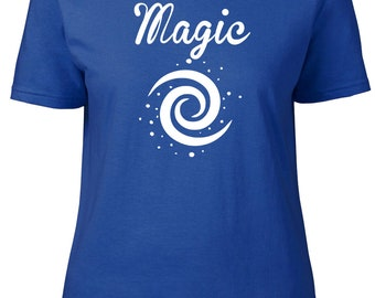 Magic. Swirl. Ladies semi-fitted t-shirt.