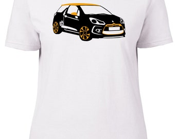 Citroen DS3. Car. Ladies semi-fitted t-shirt.