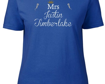 Mrs Justin Timberlake. Ladies semi-fitted t-shirt.