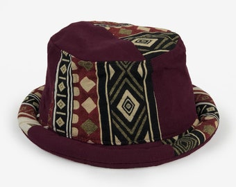 631e09009610d Purple Roll brim Bucket Hat for Women Men