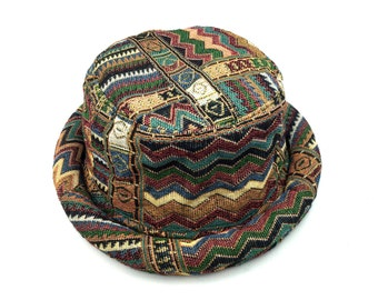 huge discount fdd75 72734 Bucket hat - Unisex, Hipster Hat, Tribal Aztec Hat, Boho Bohemian hat,  Hippie Hat for men women, Native american, Gift for hippy lover.