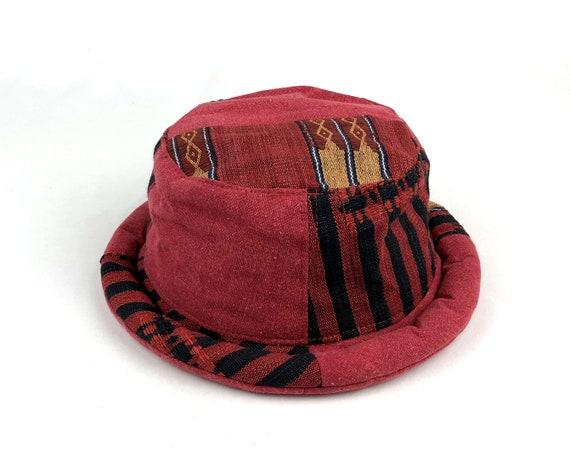 771a3b07f03 Roll brim Bucket Hat for Women Vintage Tribal Fabric