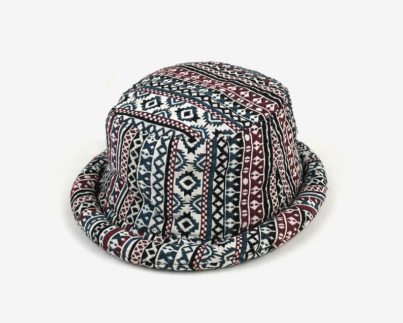 b5174e298d9cd1 Festival Hat for women men Cute Aztec Bucket hat Hippie   Etsy